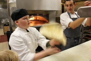 Jacob Tosses Pizza Dough