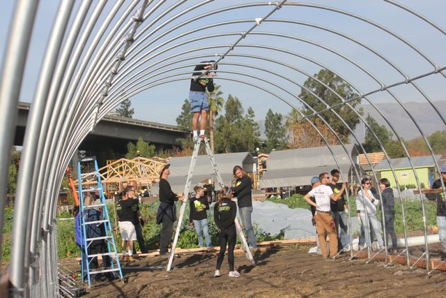 Nvidia-Project-Inspire-Veggielution-Farm-San-Jose-Good-Neighbor-Stories-Volunteers-Build-Greenhouse