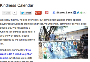Kindness-Calendar-annual-events-service-volunteers-community-good-neighbor-stories