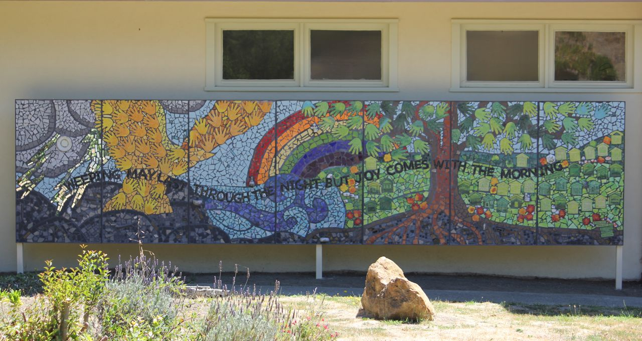 Church pieces together healing for san bruno good for Mural mosaic